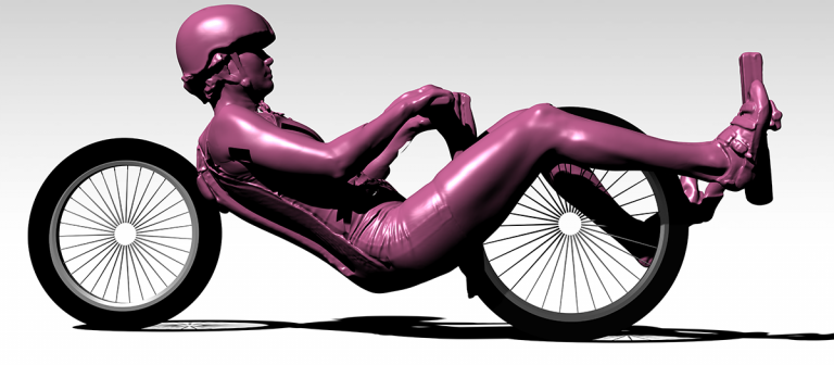 Model of the cyclist. (Image: Human Power Team)
