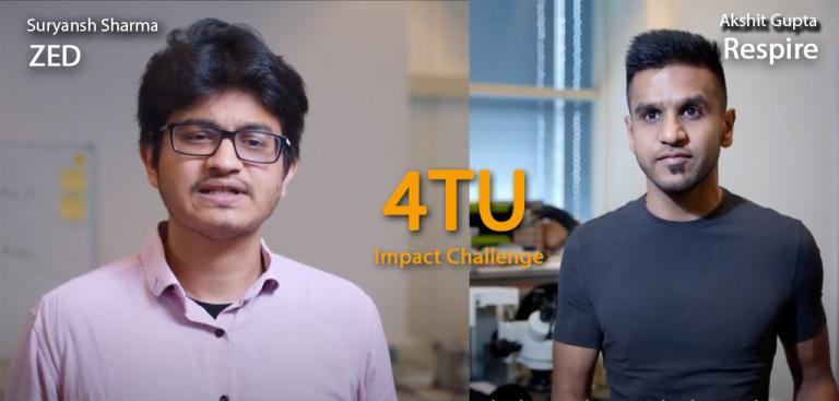 The 4TU Impact Challenge gathered the eight best ideas from Dutch Technical Universities. The nominees will present their business pitches online on Thursday 19 November.