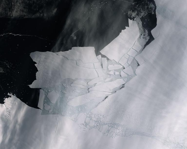 The world's largest glacier, the Antarctic's Pine Island Glacier, spawned an iceberg of over 300 square km – twice the size of Amsterdam - that very quickly shattered into pieces.