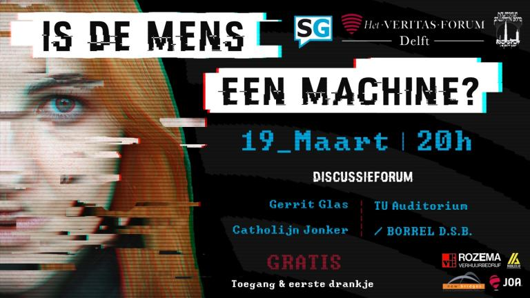 Is de mens een machine? (Foto: Veritas Forum)