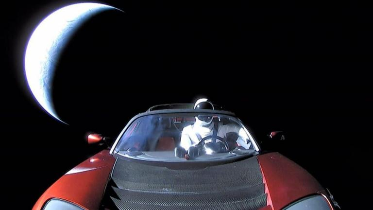SpaceMan in his Tesla Roadster (Photo: SpaceX)