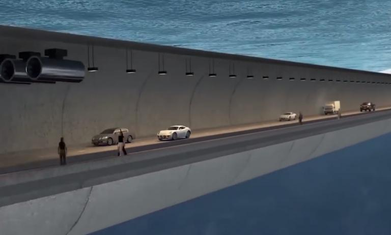 Floating tunnels to cross deep sea straits