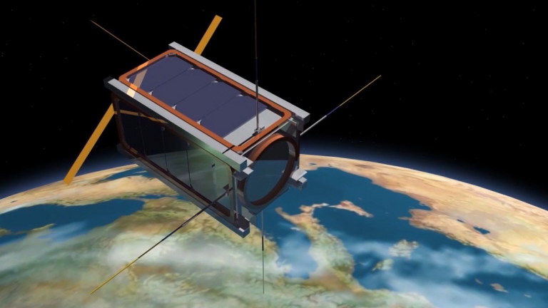CubeSat in space. (Illustration: QB50 project)